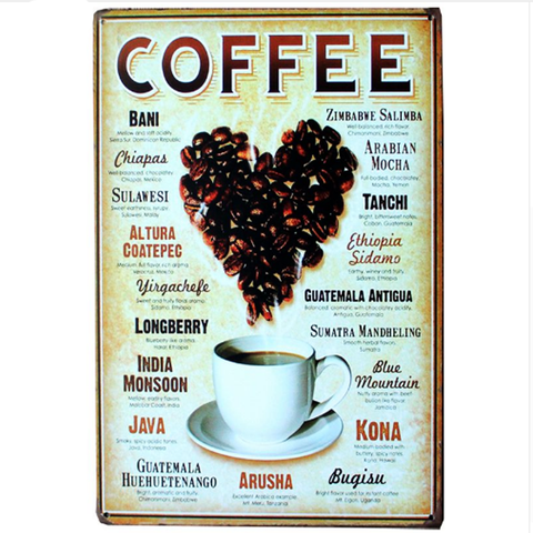 Vintage Coffee Signs