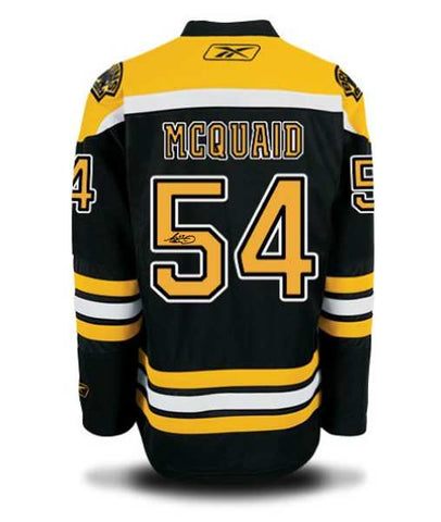 Adam McQuaid Signed Boston Bruins Jersey-AAFC20438
