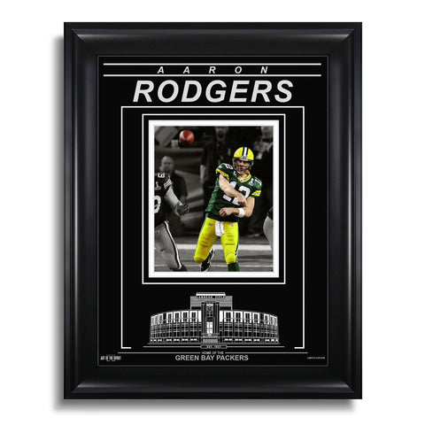 Aaron Rodgers Green Bay Packers Engraved Framed Photo - Action Spotlight-AAFC26100