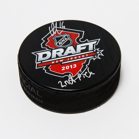 ALEKSANDER BARKOV 2013 NHL DRAFT DAY AUTOGRAPHED HOCKEY PUCK WITH 2ND PICK NOTE