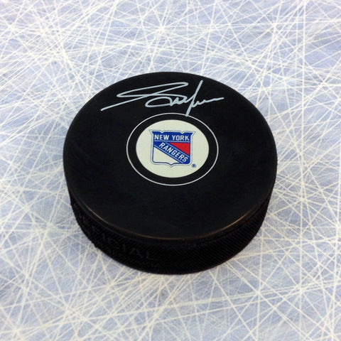 ADAM GRAVES NEW YORK RANGERS AUTOGRAPHED HOCKEY PUCK