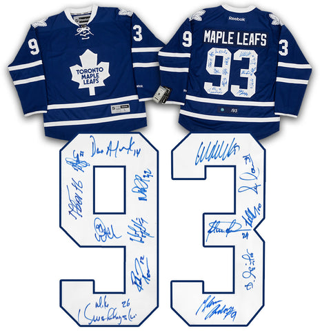 1993 TORONTO MAPLE LEAFS TEAM SIGNED HOCKEY JERSEY #/93 - 14 AUTOGRAPHS