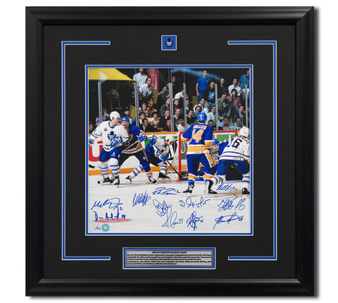 1993  MAPLE LEAFS TEAM SIGNED PLAYOFF WRAP AROUND GOAL 27X27 #/93
