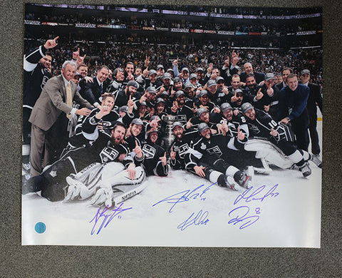 2012 KINGS STANLEY CUP DOUGHTY KOPITAR CARTER WILLIAMS STOLL SIGNED 16X20 PHOTO