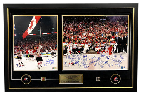 2010 TEAM CANADA OLYMPIC GOLD COMPLETE TEAM SIGNED 25 SIGNATURE 32X48 FRAME #/20