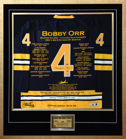 BOBBY ORR ELITE EDITION CAREER JERSEY AUTOGRAPHED - LTD ED 44 - BOSTON BRUINS