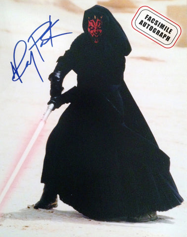 FACSIMILE SIGNED STAR WARS PHANTOM MENACE, RAY PARK DARTH MAUL