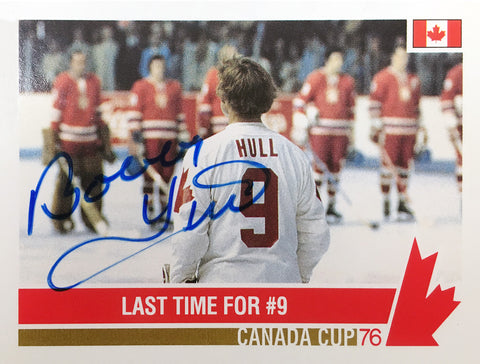 AUTOGRAPHED BOBBY HULL CARD - TEAM CANADA (HORIZONTAL)
