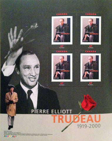 PIERRE TRUDEAU COMMEMORATIVE STAMP SET