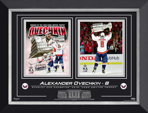 OVECHKIN, STANLEY CUP CHAMP & CONN SMYTHE WINNER 1/88 LTD ED 1/88, COLLAGE