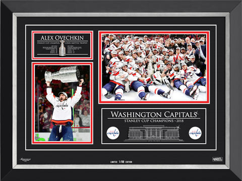 ALEXANDER OVECHKIN & WASHINGTON CAPITALS CHAMPS, LTD ED 1/88