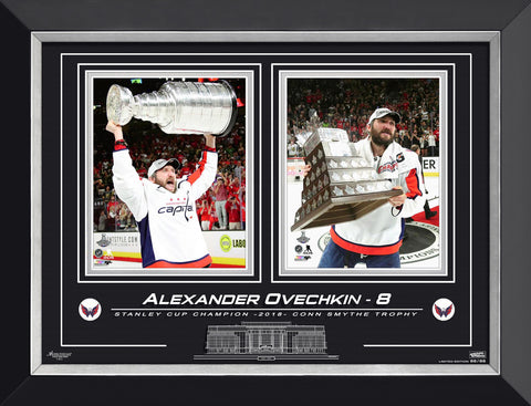 ALEXANDER OVECHKIN STANLEY CUP CHAMPION, LTD ED 88 OF 88 WASHINGTON CAPITALS