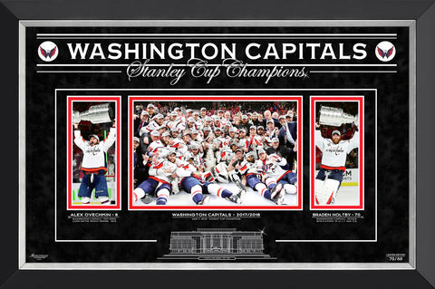 WASHINGTON CAPITALS OVECHKIN AND HOLTBY, LTD ED 70 OF 88 STANLEY CUP CHAMPIONS