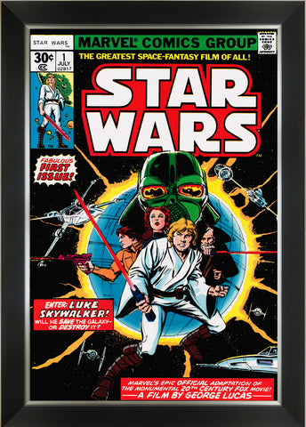 STAR WARS MARVEL COMICS FIRST ISSUE COVER ART FRAMED ART PRINT