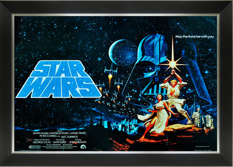STAR WARS EP IV A NEW HOPE - VINTAGE MOVIE POSTER FRAMED ART PRINT