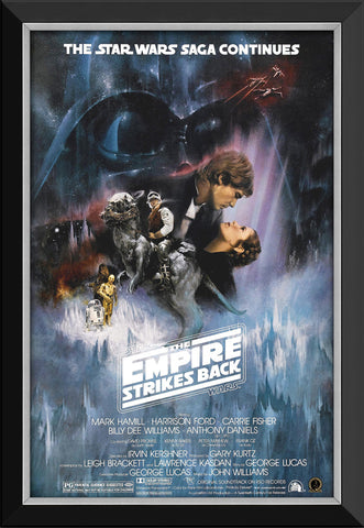STAR WARS EP V THE EMPIRE STRIKES BACK - MOVIE POSTER FRAMED ART PRINT