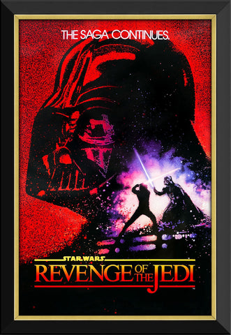 STAR WARS EP VI REVENGE OF THE JEDI - VINTAGE MOVIE POSTER FRAMED ART PRINT