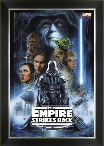 STAR WARS THE EMPIRE STRIKES BACK - COMIC BOOK COVER ART FRAMED ART PRINT