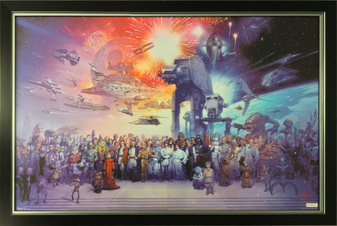 STAR WARS COLLECTION - FRAMED ART OF ALL CHARACTERS