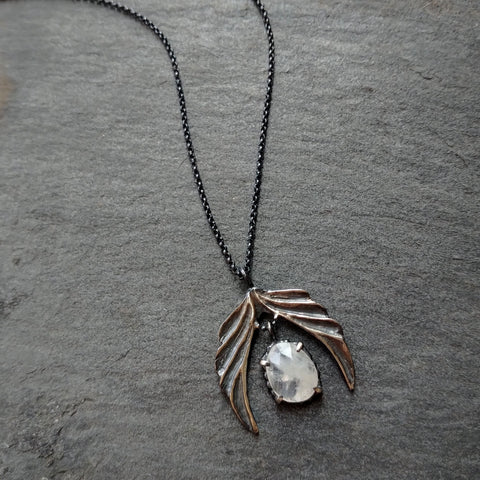 Handmade Sterling Silver Hopeful Wing Necklace