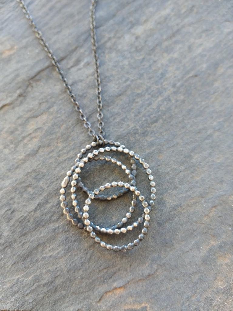 Handmade Silver Dotted Galaxy Necklace