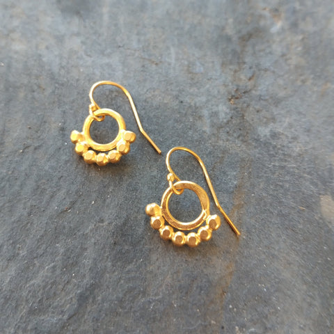 Gold Talisman Earrings