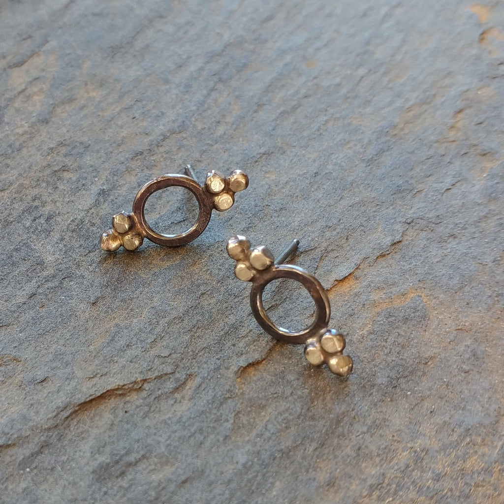 Handmade Victorian Stud Earrings