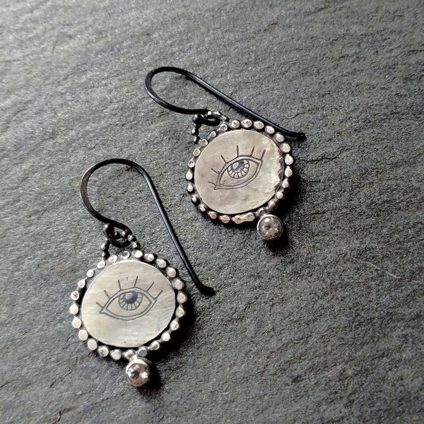 Handmade Protective Eye Earrings