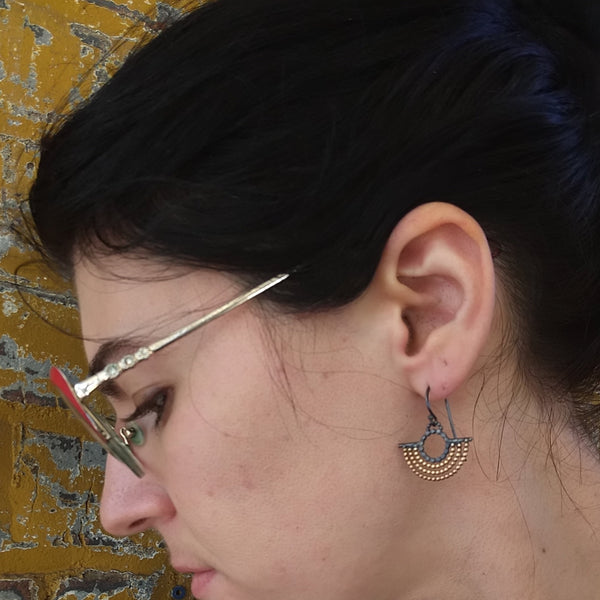 Gold Fill and Silver Outstretched Wing Earrings