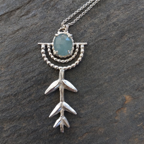 Aquamarine Root Necklace