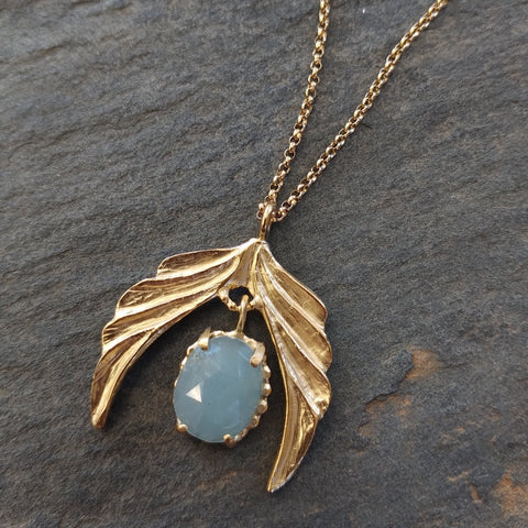 Handmade Gold Vermeil Hope Wing Necklace