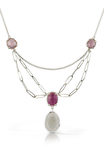 One of a Kind Victorian Ruby Necklace