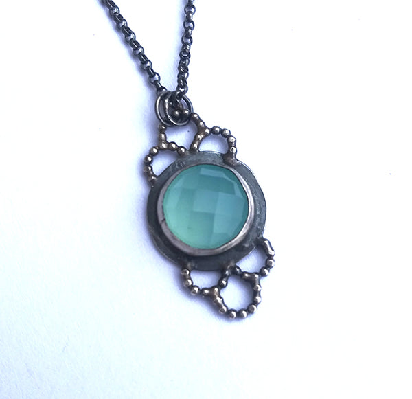 Limited Edition Aquamarine Lacy Necklace
