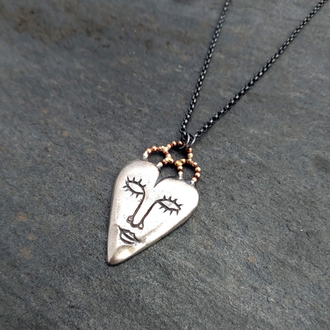 Lacy Heart Spirit Necklace