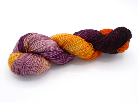 Blood Orange Variegated, Hand Dyed Sock Yarn - Lovely Base - In Stock