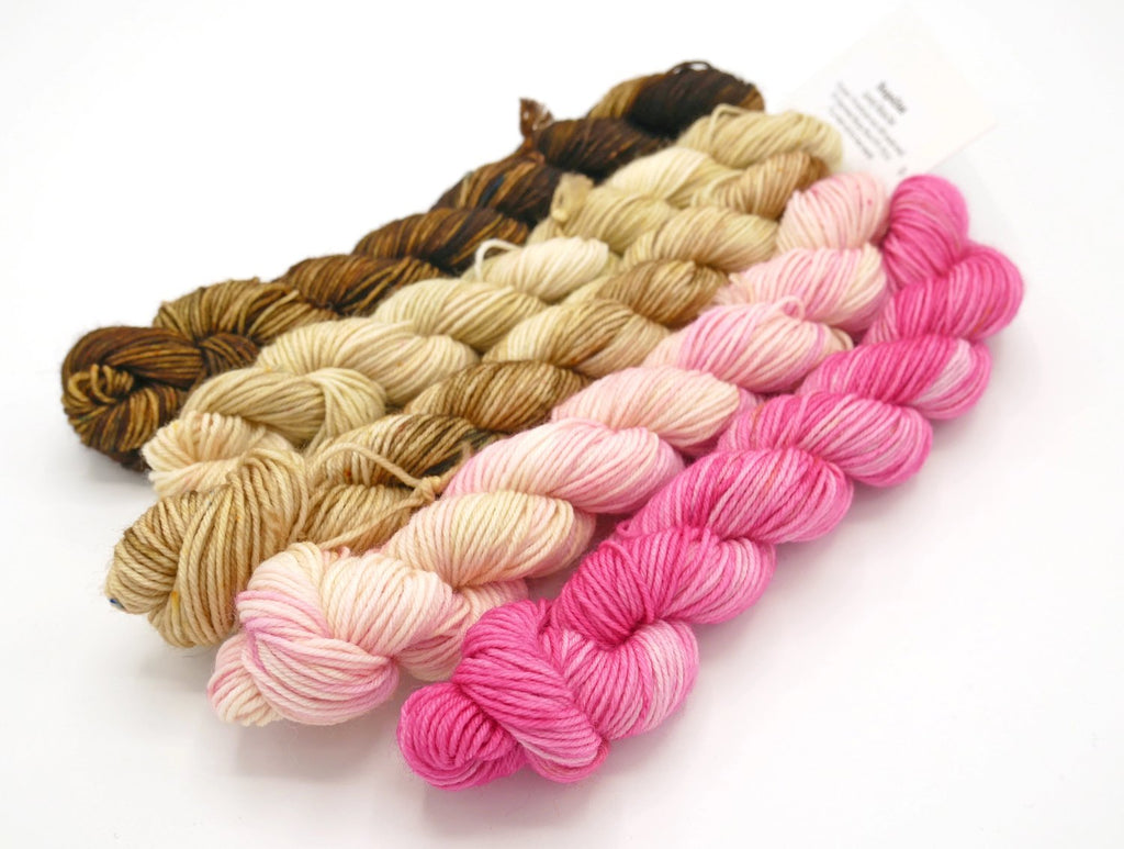 Neapolitan, Hand Dyed Fade Set, Mini Skein or Full Size - Made to Order