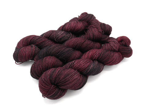Poisoned Cherry, Hand Dyed Sock Yarn - Lovely Base - In Stock