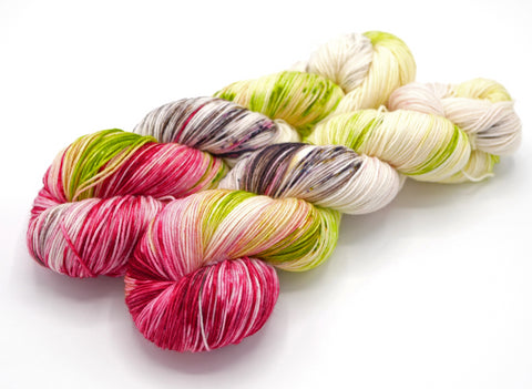 Rose, Hand Dyed Sock Yarn - Lovely Base - In Stock