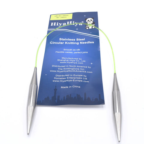 "16"" circular knitting needles HiyaHiya Stainless Steel"