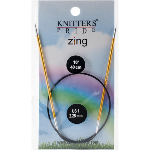 "16"" Circular Knitter's Pride Zing Knitting Needles"