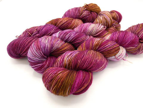 Superwash Merino Wool Hand Dyed Sock Yarn - In Stock