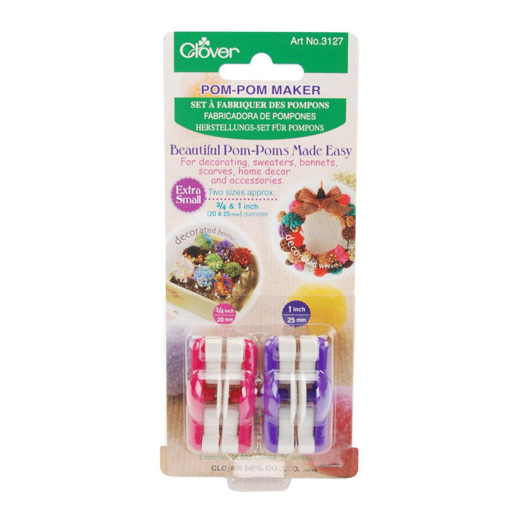Tiny Pom-Pom Maker Set - Clover Brand - Assorted Sizes