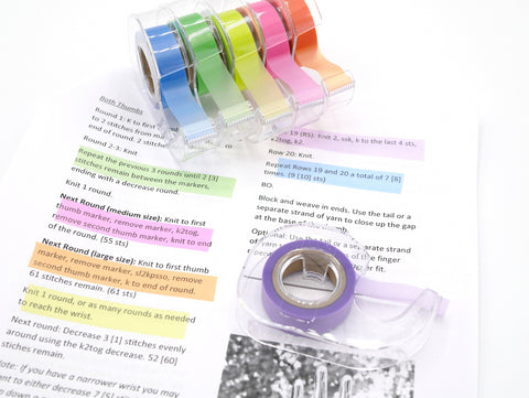 Highlighter Tape - Removable tape great for marking patterns, charts, and for journaling