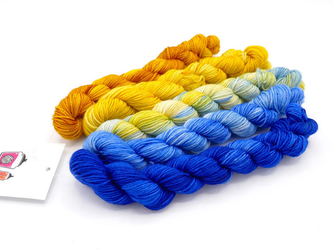 Very Starry Hand Dyed Mini Skein Fade Set - In Stock