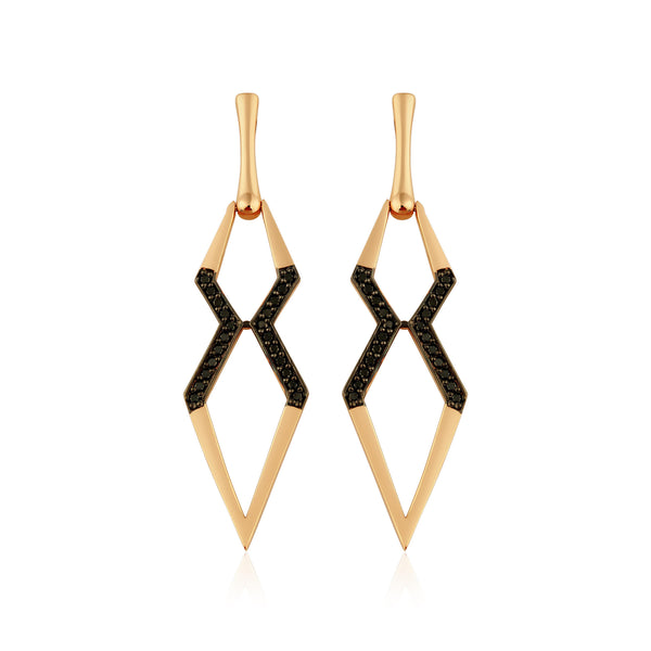 Big X Earring (Black)