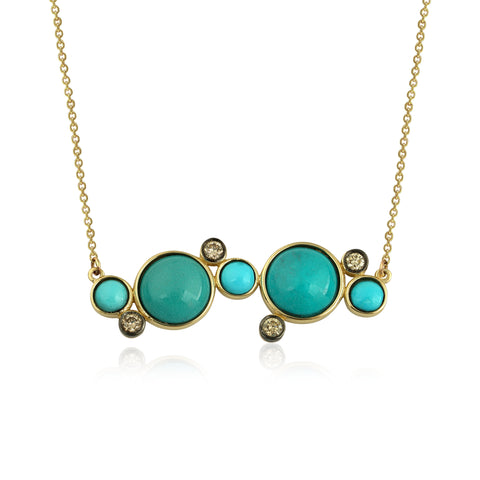 Blue Bubbles Necklace