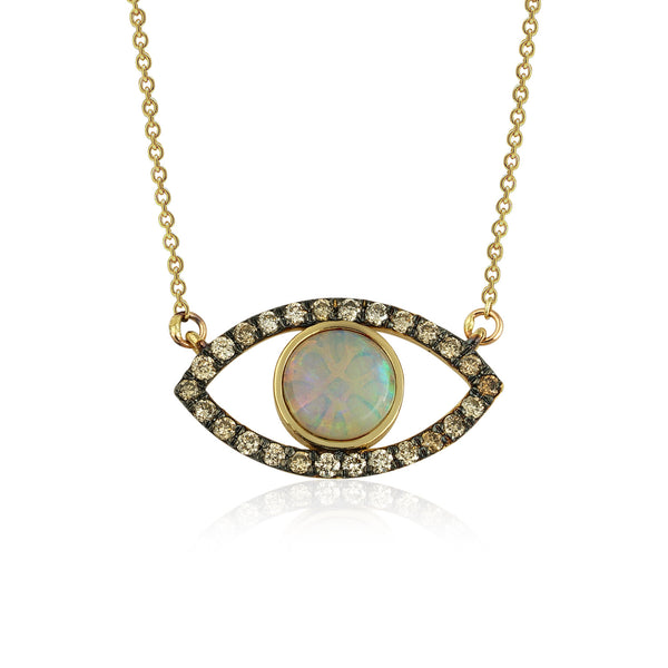 Opal Eye Necklace