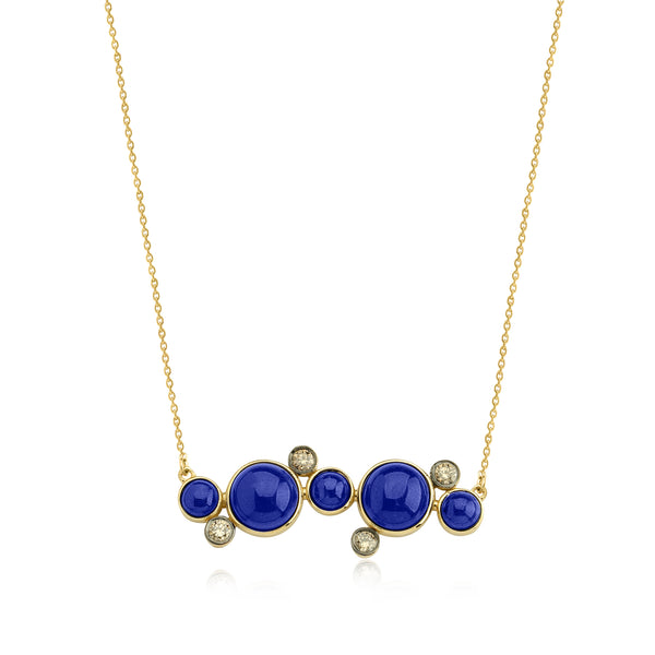 Bubbles Necklace (Lapis)