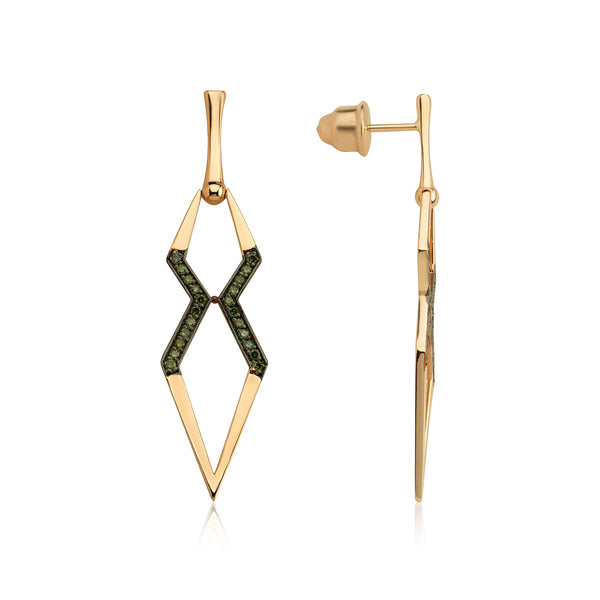 Big X Earring (Green)