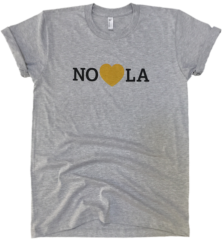 Heart in Nola Men's T shirt